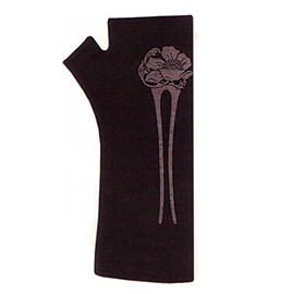Hairpin Merino Fingerless Gloves - B058 Black