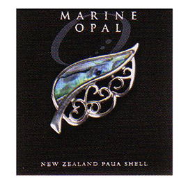 Fern Paua Brooch - MOB05
