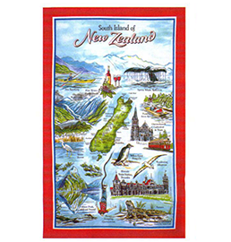 South  Island New Zealand Tea Towel - MT14 PACK of 6