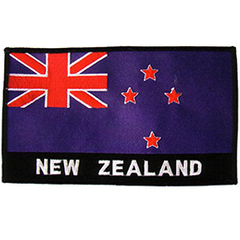 New Zealand Flag Patch - E5 PACK of 3