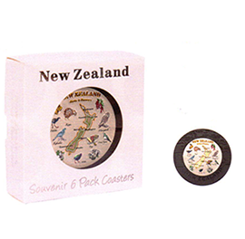 New Zealand Birds & Flowers Coasters - COAS37