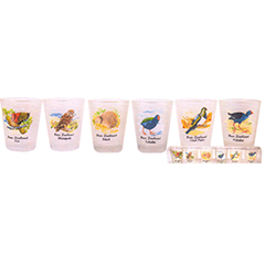 New Zealand Birds Shot Glasses - SH61 Set of 6