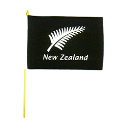 NZ Fern Flag on Stick - 80042 PACK of 12