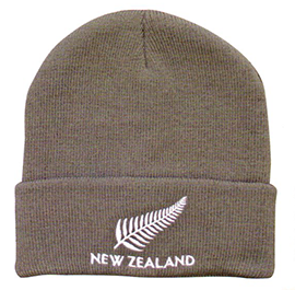 New Zealand & Fern Beanie Grey - 60434 PACK of 6