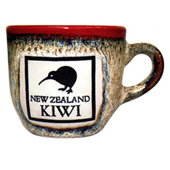 Reactive Glaze Kiwi Espresso Cups - 10498 SET OF  2