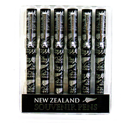 New Zealand Silver Fern Pens - 40134 Pack of 6