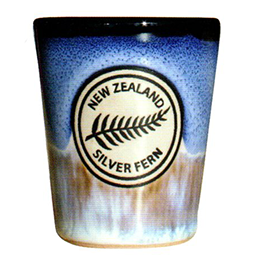 Reactive Glaze Fern Shot Glasses - 10520 Set of 2