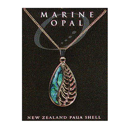 Paua Fine Chain Necklace - PJS98