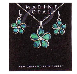 Flower Necklace & Earrings - SET116
