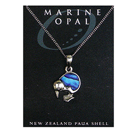 Paua Fine Chain Necklace - PJS14