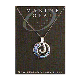 Paua Fine Chain Necklace - PJS33