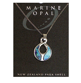 Paua Fine Chain Necklace - PJS36