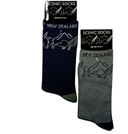 MENS New Zealand Scenes Socks - 55285/ 86 SET OF 2