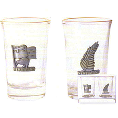Kiwi & Fern Shot Glasses - SH66 Set of 2