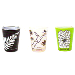 Fern, Map & Sheep Shot Glasses - SH67 69 71 Set of 9