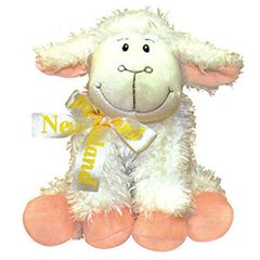 Sitting Sheep With NZ Ribbon - 30487