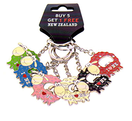 Sheep Bottle Opener Key Rings - K314-6PK