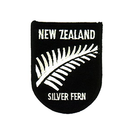 NZ Silver Fern Flag Patch - E132 PACK of 3
