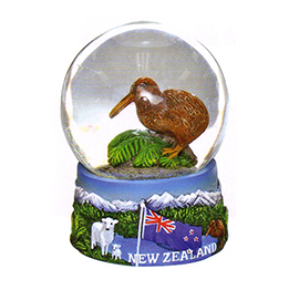 Kiwi & Sheep Snow Globe - 11083