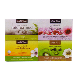 Manuka Honey, Rotorua Mud, Kiwifruit & Flowers Guest Soap - GS4A