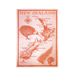 Jacquard NZ Map Tea Towel - 65158