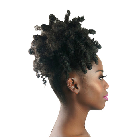 Afro puff ponytail