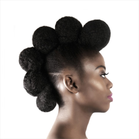 Bunhawk, natural hair undo, wedding buns for natural hair, afro kinky hairpieces
