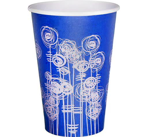 Blue Swirl Water Cup