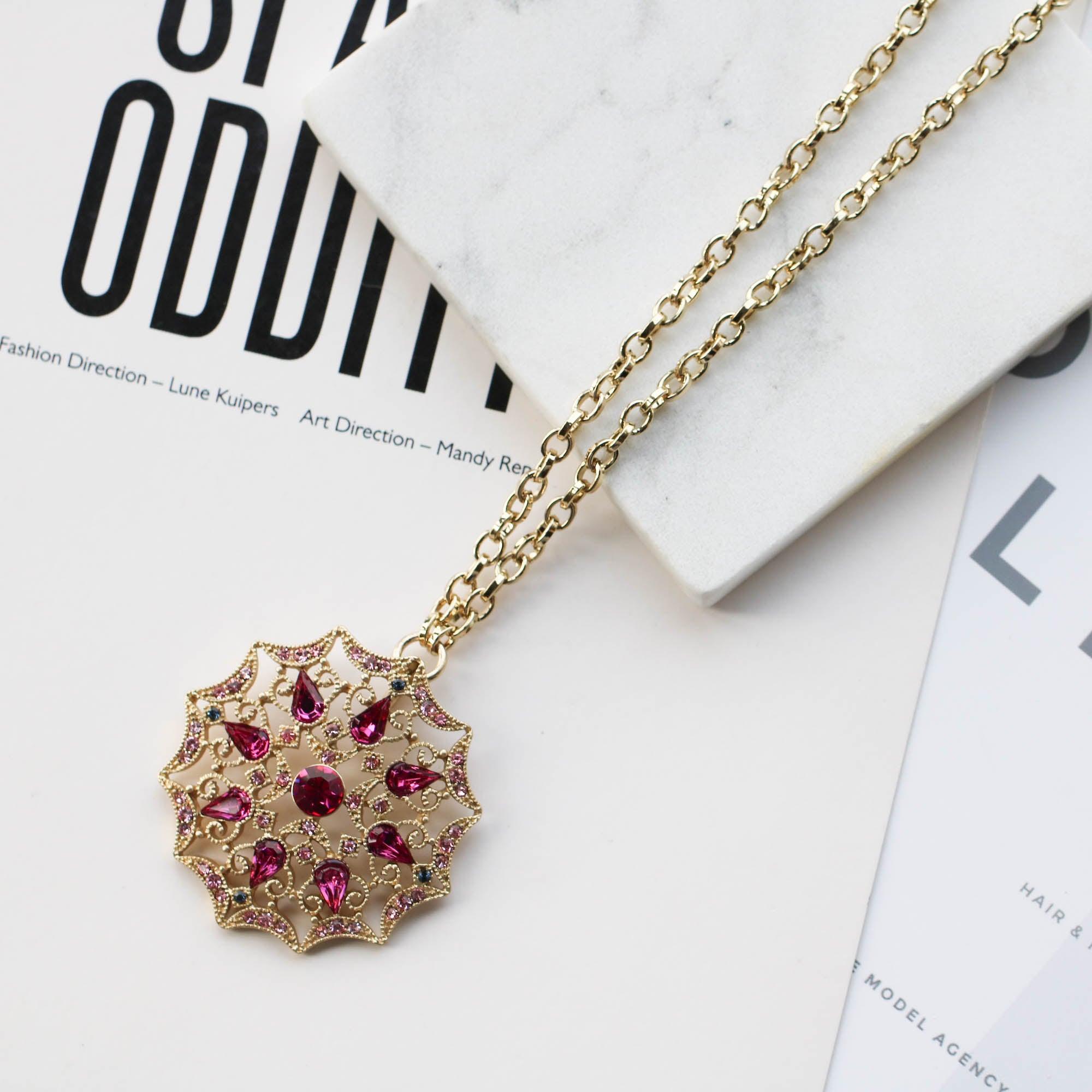 Anne klein gorgeous red crystal pendant necklace mushroom89 anne klein gorgeous red crystal pendant necklace aloadofball Gallery