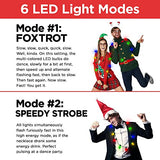 Original LED Light Up Christmas Bulb Necklace Party Favors Ugly Xmas Party (1 Pack)
