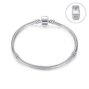 New Design Silver Snake Chain Magnet Clasp European Charm Bead Fit Bracelet Bangle Jewelry For Women Men