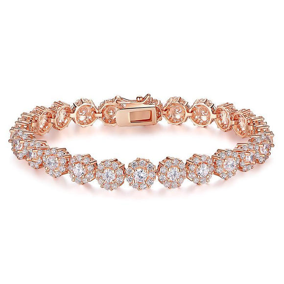 Hottest Sale Cubic Zircon Bracelet for Girls 0.5 Carat Stone Plated Tennis Bracelet