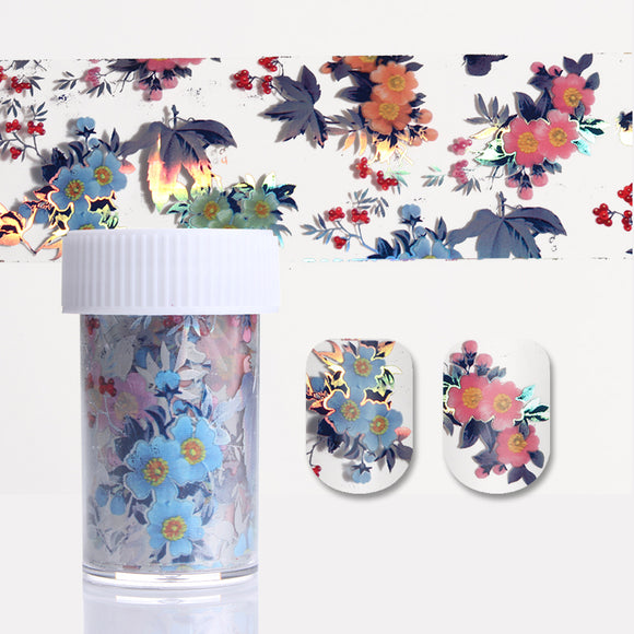 1 Roll  Colorful Flower Leaf Nail Foil  Transfer Sticker