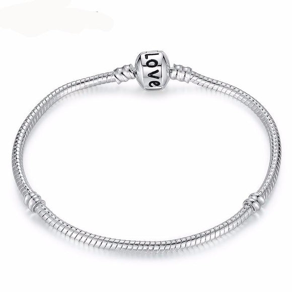 Love Snake Chain Fit Original Bracelet Charm Bead Jewelry Gift For Men Women