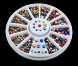 Mixed Color Nail Art  Rhinestones