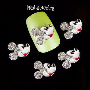 10 Pc  Mickey Mouse Nail Jewelry