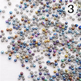 Shinny Mini Gardient Beads Nail Art for UV Gel Manicure