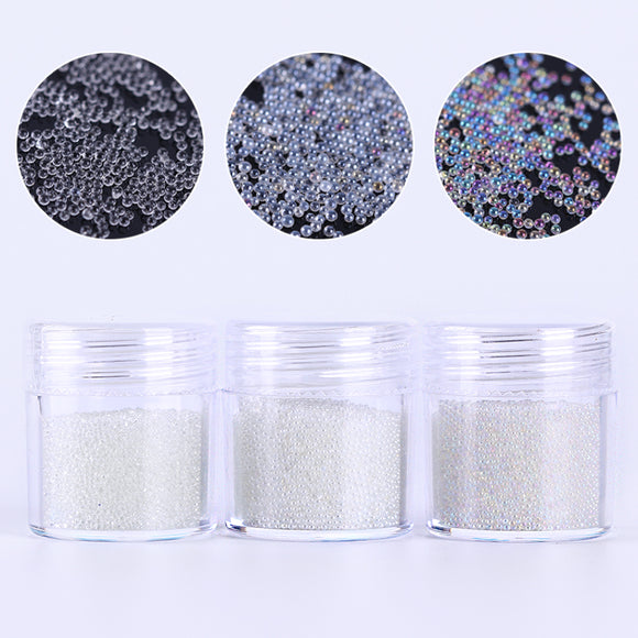 Mini Clear Caviar Nail Art Beads