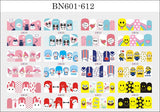 Nail Art Water Stickers   (1 sheet)