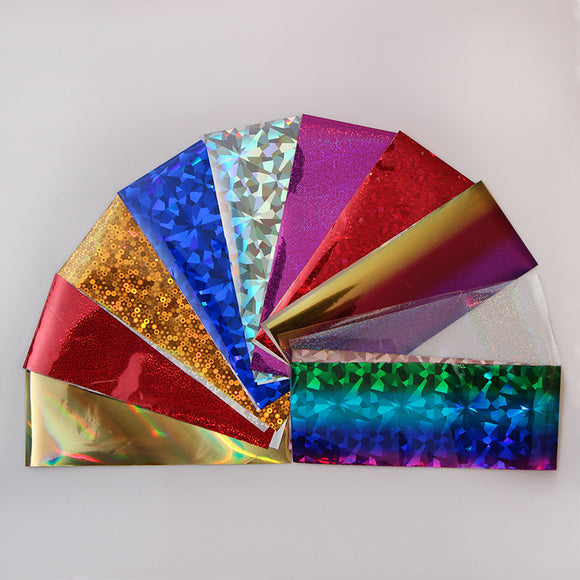 50 pc.  Assorted Colorful Nail Foil