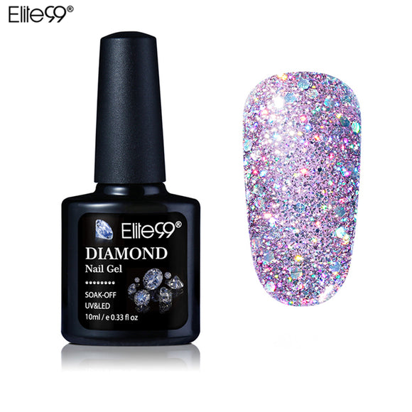 Elite99  Diamond  Glitter UV Gel Polish Soak Off Gel Nail Polish