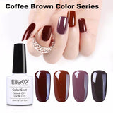 Coffee Brown Gel Nail Polish Series