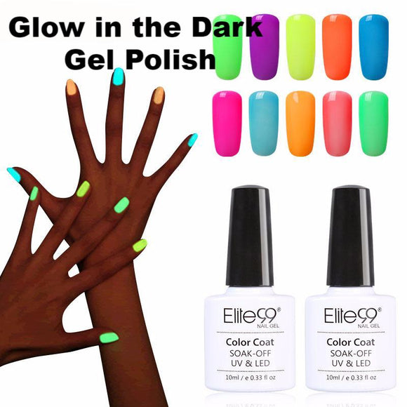 Night Glow In Dark Nail Gel Polish  Fluorescent Luminous Lacquer