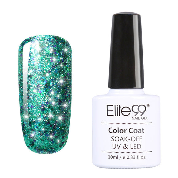 Elite99 Super Bling Gel Nail Polish Pure Soak Off UV LED Starry Gel Polish