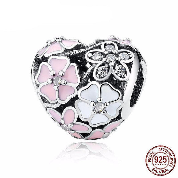 100% 925 Sterling Silver Poetic Blooms Beads Fit Original WST Charm Bracelet Authentic Luxury DIY Jewelry Gift