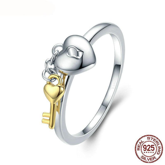 2018 Sterling Silver True Love Key Rings for Women Luxury 925 Sterling Silver Fine Jewelry