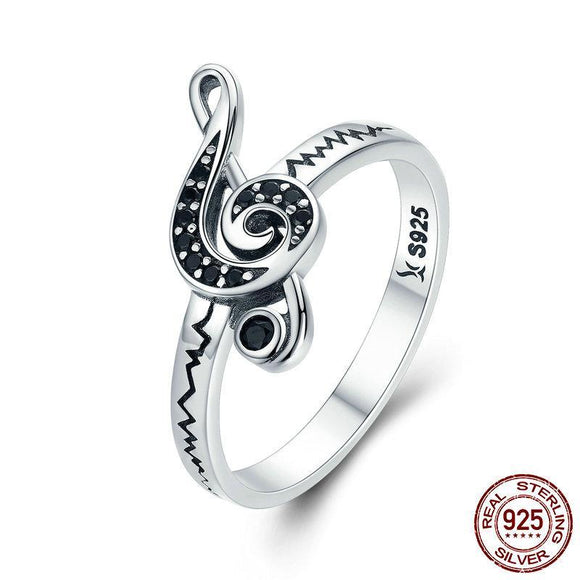 2018 New Genuine 925 Sterling Silver Dancing Melody Music Finger Rings for Women