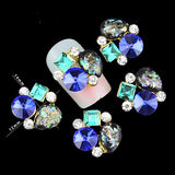 10pc  Blue, Turqoise Rhinestone Nail Jewelry