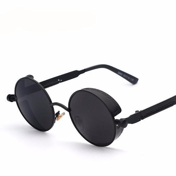 Mirror Lens Round Glasses Goggles Steampunk Sunglasses  For men and women