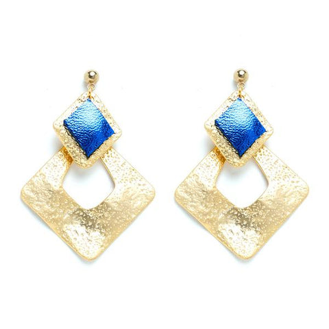 Charly James - Boucles d'oreilles - Eléa Bleu lamé